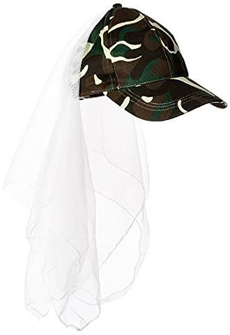 Camo Veil Cap Party Accessory (1 count) (1/Pkg)