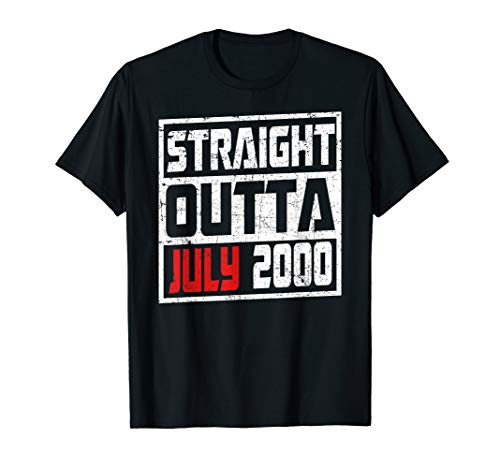 Straight Outta July 2000 Vintage 19th Birthday Gift Idea Tsh (Birthday Gift Ideas For 19 Year Old Daughter)