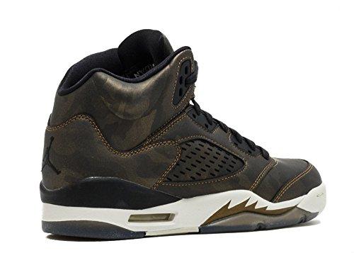 Nike Air Jordan 5 Retro PREM HC Big Kid's Basketball Shoes Black/Light Bone, 8.5 by Jordan (Image #2)