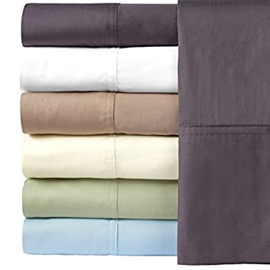 Silky Soft Bamboo Cotton Sheet Set, 100% Bamboo-Cotton Bed Sheets, King Size, Charcoal