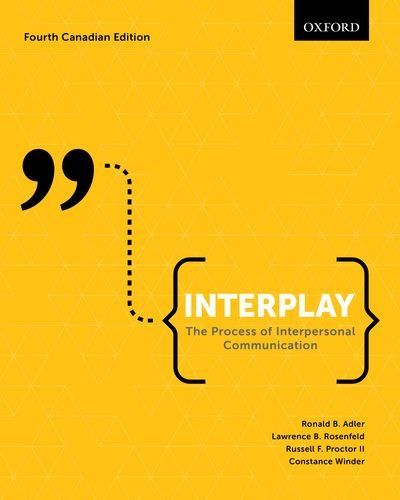 Interplay The Process Of Interpersonal Communication 13th Edition Pdf