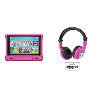 Fire HD 10 Kids Tablet 32GB Pink with Playtime (Ages 3-7) Bluetooth Headset