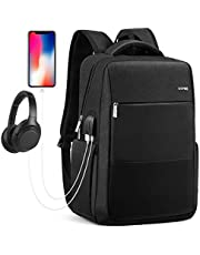 HOMIEE Laptop Backpack, 15.6/17 Inch Business Anti-Theft Laptop Backpack with USB Charging Port, Slim Lightweight Water Resistant Large College Work Bag for up to 17 Inch Laptop and Notebook