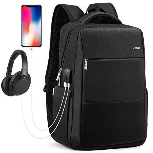 HOMIEE Anti Diebstahl Laptop Rucksack mit USB Ladeanschluss Wasserdicht...