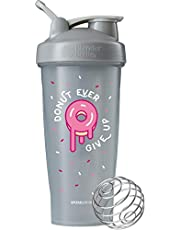 Blender Bottle Just for Fun Classic 28-Ounce Shaker Bottle, Donut Ever Give Up