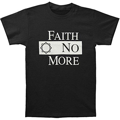 Faith No More Men's Classic Logo Black Slim Fit T-shirt Black