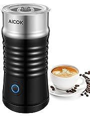 Aicok Montalatte Elettrico, Montalatte Silenzioso, Controllo della Temperatura, Spegnimento Automatico, Schiumatore 3 in 1 con Doppio Rivestimento Antiaderente, per Caffè, Latte, Cappuccino
