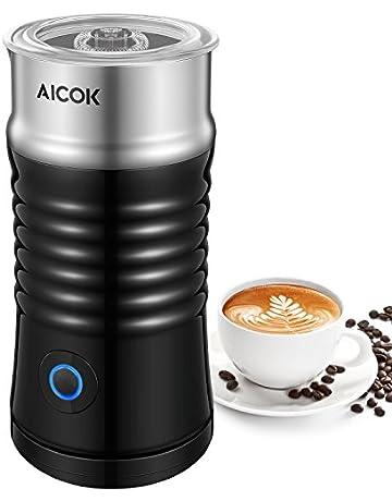 Aicok Espumador / Batidor de leche Eléctrico, Vaporera de leche de doble pared de Acero