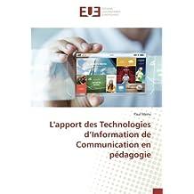 APPORT DES TECHNOLOGIES D INFORMATION (L')