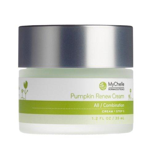 MyChelle Dermaceuticals Pumpkin Renew Cream- Antioxidant-Rich Moisturizer with Shea Butter for All Skin Types, Cruelty-Free, Fragrance-Free, 1.2 fl oz