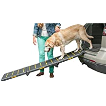 Pet Gear Travel Lite Tri-Fold Reflective Pet Ramp, Extra Wide, Black/Yellow