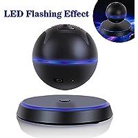 Floating Speaker UPPEL Portable Levitating Floating Bluetooth4.0 Speaker Levitation Maglev Speaker Multicolor LED 360 Degree Rotating Stereo Speaker (black)