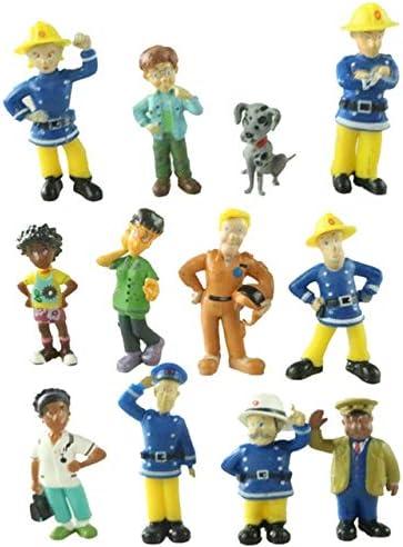 Amazon.com: ZAMTAC 12Pcs/lot Anime Fireman Sam Toys Action Figures Mini Figurines Set Decoration Cartoon PVC Firefighters Model Dolls Kids Toy Gift - (Color: 12Pcs, Size: 3-6cm): Home & Kitchen