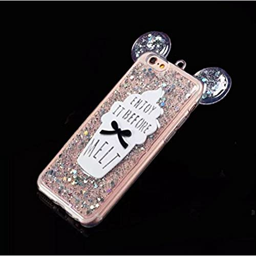Galaxy S7 Case,Jesiya Super Cute 3D Bear/Mouse Ear Luxury Sparkle Powder With Ice Cream Back Bling Soft TPU Shiny Sales