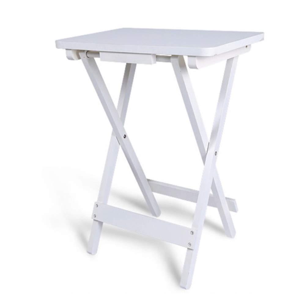 KSUNGB Klapptisch Multifunktion Einfach Massivholz Wohnzimmer Esstisch Computertisch Laptopständer Schreibtisch für Kinder,Weiß,45  30  61cm