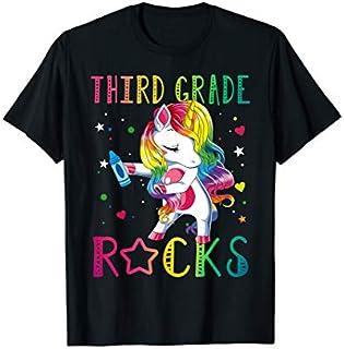 3rd Third Grade Rocks  - Funny Back To School T-shirt   Size S - 5XL