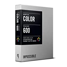 Impossible PRD2933 Color Film for Polaroid 600-Type Camera Frame (Silver)