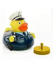Schnabels Badeend politie incl. racegewicht - geschenk voor politieagent politie politie - grappig origineel geluksbrenger - speelgoed piepend decoratief artikel bad