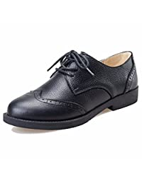 Moonwalker Women's Genuine Leather Oxfords Brogue Shoes