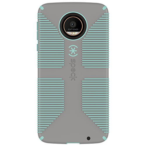 Speck Products CandyShell Grip Case for Moto Z Droid Smartphone, Sand Grey/Aloe Green