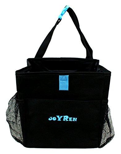 Price comparison product image JustNile Waterproof Leakproof Multi Pocket Car Back Seat Hanging Organizer Storage Litter Bag - Black