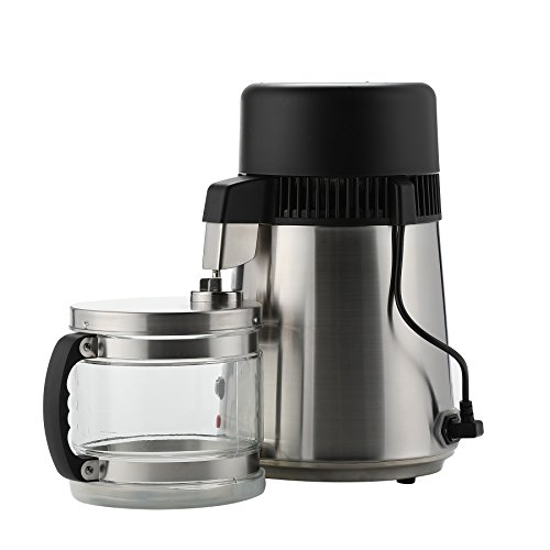 CO-Z Brushed Stainless Steel Countertop Home Water Distiller Machine with 4 Liter Connection Bottle by CO-Z (Image #3)