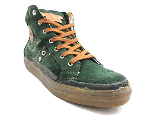 DAcquasparta Zapatos Hombre 40 EU Sneakers Verde Gamuza KY127