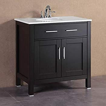 32 Quot Modern White Floating Single Sink Bathroom Vanity Set