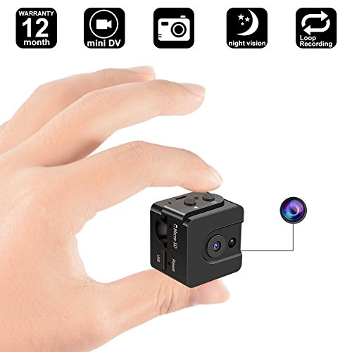 Mini Hidden Camera - DigiHero Portable Small HD Mini Body Camera Video Recorder with Motion Detection,Snapshot and Night Vision for Home and Office