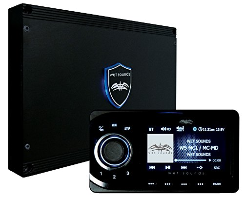 Wet Sounds WS-MC1: Marine Media System with Full-Color LCD Display, Bluetooth, 4-Zone Control