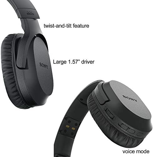 Sony Wireless Over-Ear Noise Reduction Headphones WHRF400R with Transmitter Dock TMRRF400 Sony Rechargeable Battery 4 AAA Batteries Connecting Cables AC Adaptor HeroFiber Cleaning Cloth