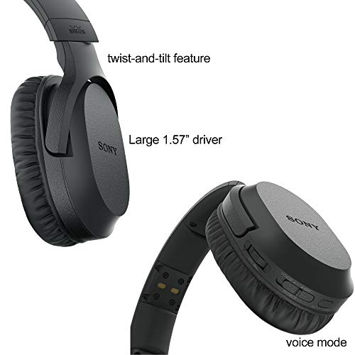 Sony Wireless Over-Ear Noise Reduction Headphones (WHRF400R) with Transmitter Dock (TMRRF400) + Sony Rechargeable Battery + Connecting Cables + AC Adaptor + HeroFiber Cleaning Cloth by HeroFiber (Image #2)