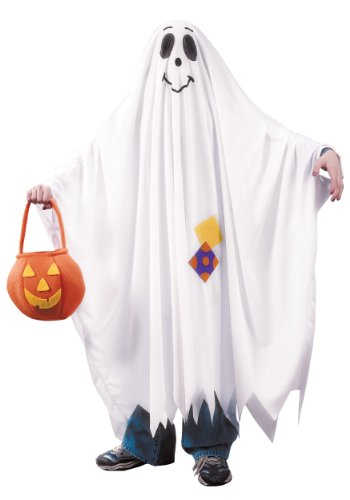 Fun World Big Boy's Friendly Ghost Child Costume Childrens Costume, Multi, Extra -