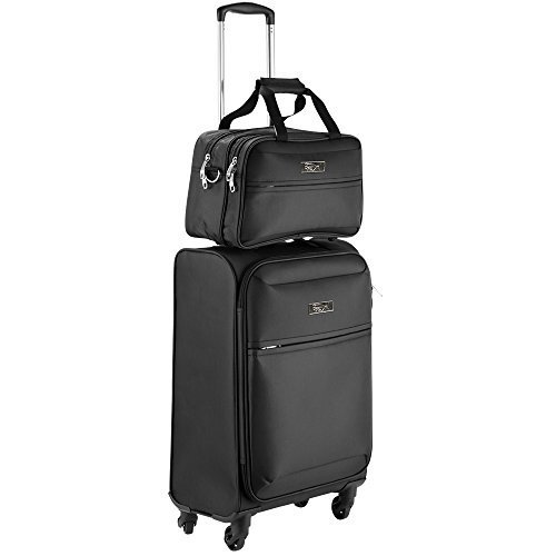 - Cabin Max Copenhagen Business Hand Luggage Set - Trolley Suitcase 55x40x20cm and Stowaway Bag 35x20x15cm