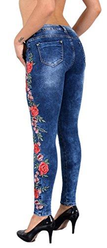 j77 florale fleur femme pointe Typ dentelle Jean tex avec by vintage J53 jean brod skinny rtro UqWAZwx0