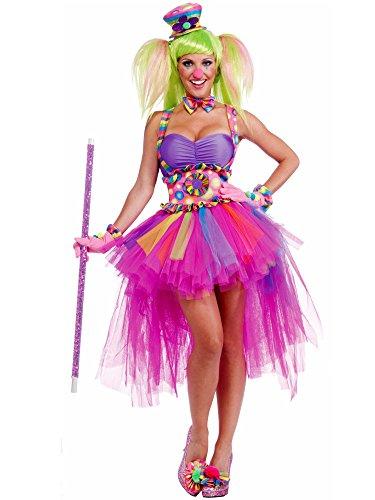 Womens Halloween Costumes On Sale (Forum Circus Sweeties Tutu Lulu The Clown Costume, Pink, Standard)