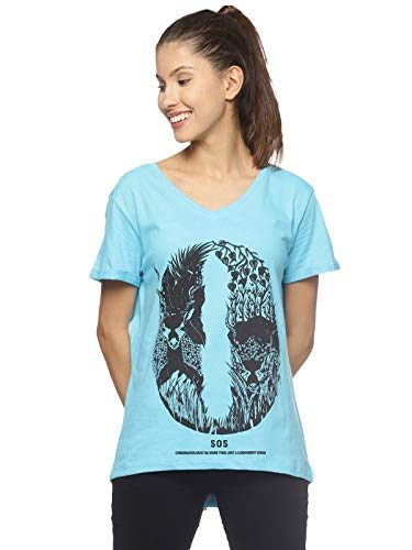 Wolfpack Women Roundneck Graphic Printed T Shirt