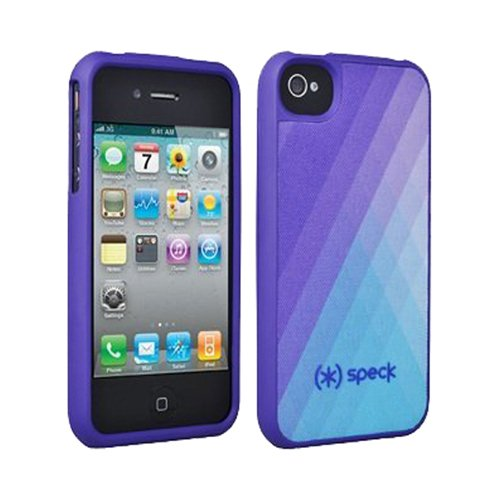Speck Products Fitted Hard Case with Fabric for iPhone 4/4S - 1 Pack - Carrying Case  - DiamondFog Purple (Purple Speck 4s Case Iphone)