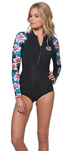 Rip Curl G Bomb L/Sl Spring Hi Cut sauna-suits, Black, 6               by Rip Curl