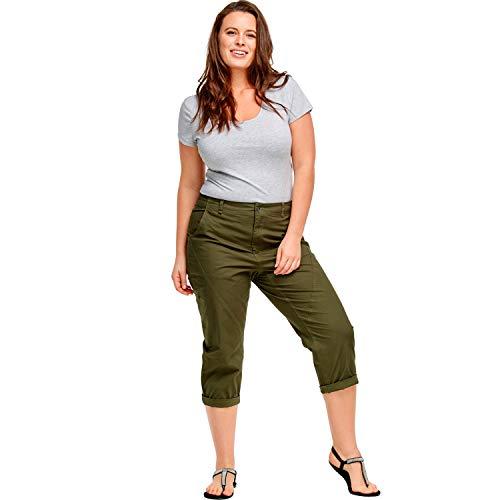 ellos Women's Plus Size Seamed Capris Pants