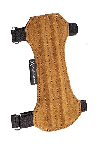 ArcheryMax Two-Strap Non-Ventilated Handmade Suede Arm Guard