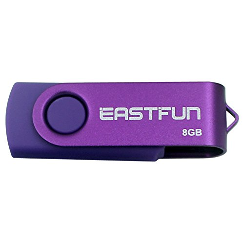 EASTFUN 5Pcs 8GB USB Flash Drive USB 2.0 Flash Memory Stick Fold Storage Thumb Stick Pen(Five Mixed Colors: Black Rose Blue Purple Green)