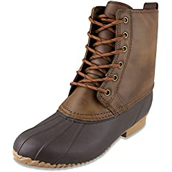 LONDON FOG Mens Sutton Cold Weather Duck Boot Brown 11 M US
