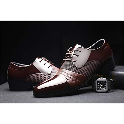 Mens Business Dress Shoes Pointed Toe Lace up Comfortable Oxford Sheos by Phil Betty (Image #6)