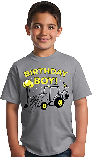 Construction Zone Clothes (Birthday Boy Construction Zone | Backhoe B-Day Builder, Bulldozer Unisex T-shirt - (Youth,XS))