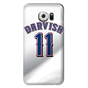 S6 Edge Case, MLB - Texas Rangers #11 Yu Darvish - Samsung Galaxy S6 Edge Case - High Quality PC Case