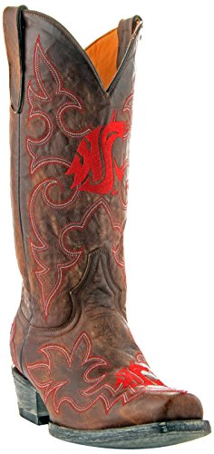 GAMEDAY BOOTS NCAA Washington State Cougars Men's, Brass, 13 D (M) US