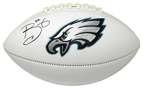Super Bowl 52 Champ Trey Burton Signed Philadelphia Eagles Logo Football JSA ITP