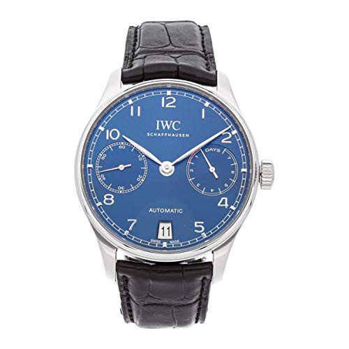 - IWC Portugieser Mechanical (Automatic) Blue Dial Mens Watch IW5007-10 (Certified Pre-Owned)