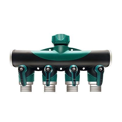 Garden Hose, Expanding Hose, soled Expandable Garden Hose, Bungee Style Expanding Hose triple Layer Latex Core Extra Strength without Spray Nozzle (4 Way Hose (Potable Bathtub)